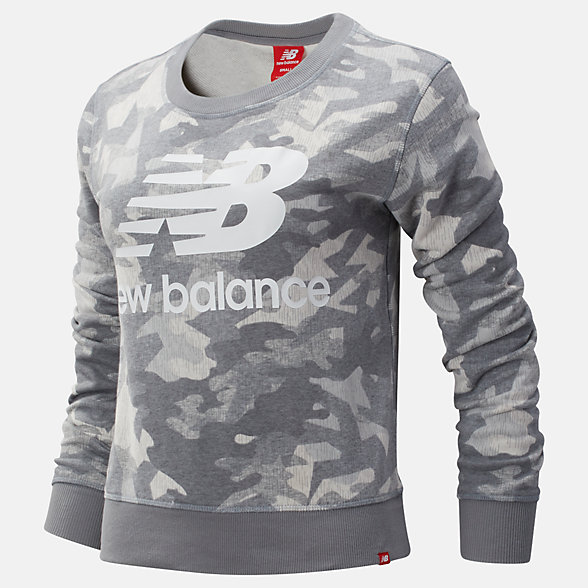 New Balance Printed Essentials Crew, WT93554SEL