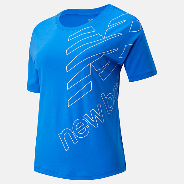 New Balance Essentials Stacked Boxy Tee, WT93562VCT