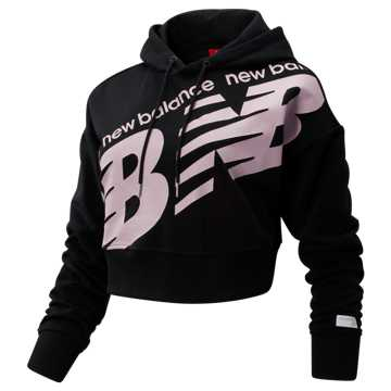 New Balance NB Athletics Cropped Hoodie, Black