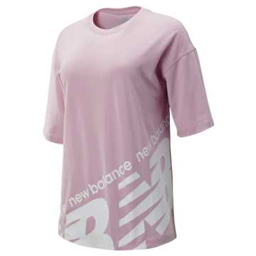 New Balance NB Athletics Boyfriend Tee, Oxygen Pink