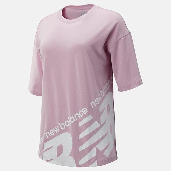 New Balance 女款针织短袖上衣, WT93575OXP