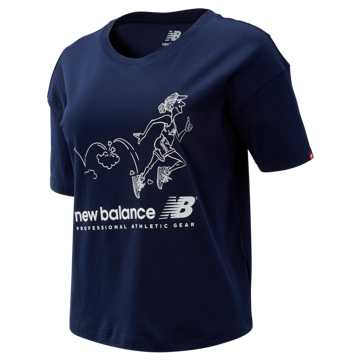 New Balance NB Athletics Archive Throwback Tee, Pigment