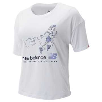 New Balance NB Athletics Archive Throwback Tee, White