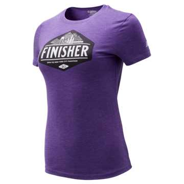 New Balance NYC Marathon Finisher Skyline Tee, Potent Purple