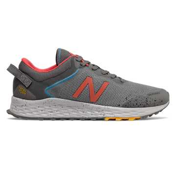 New Balance Fresh Foam Arishi Trail, Castlerock with Varsity Gold & Toro Red