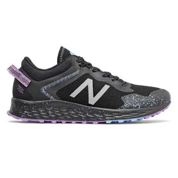 New Balance Fresh Foam Arishi Trail, Black with Purple & Neo Violet