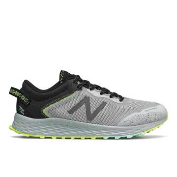 New Balance Fresh Foam Arishi Trail, Light Aluminum with Black & Neo Mint