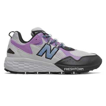 New Balance Fresh Foam Crag v2, Light Aluminum with Black & Team Carolina