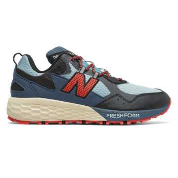 New Balance Fresh Foam Crag v2, Wax Blue with Black & Toro Red