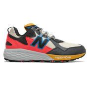 NB Fresh Foam Crag v2, Stone with Black & Neo Classic Blue