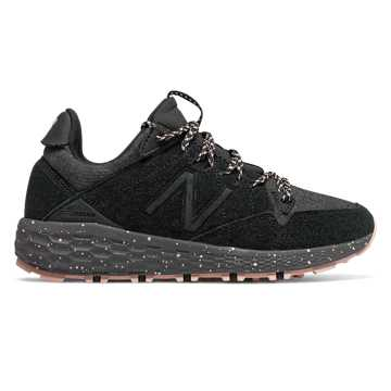 New Balance Fresh Foam Crag Trail, Black with White Oak