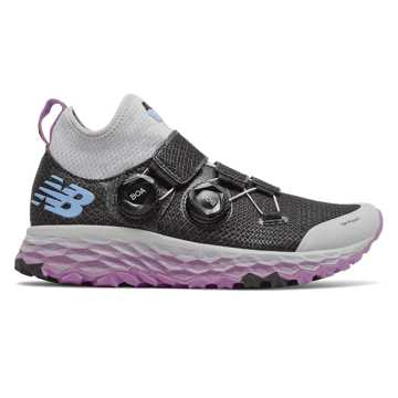 New Balance Fresh Foam Hierro Boa, Black with Light Aluminium & Neo Violet