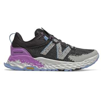 New Balance Fresh Foam Hierro v5, Black with Neo Violet & Linen Fog