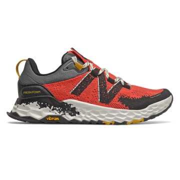 New Balance Fresh Foam Hierro v5, Toro Red with Black & Chromatic Yellow