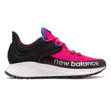 New Balance Roav Trail系列女款户外跑步运动鞋, 玫红/黑色