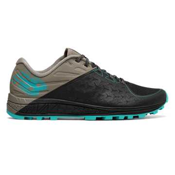 New Balance Vazee Summit Trail v2, Black with Military Green & Turquoise
