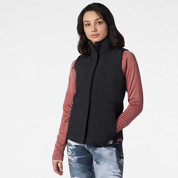 New Balance 女款保暖夹棉马甲, WV13271BK