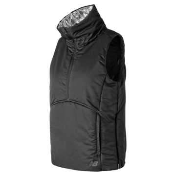 New Balance NB Radiant Heat Half Zip Vest, Black