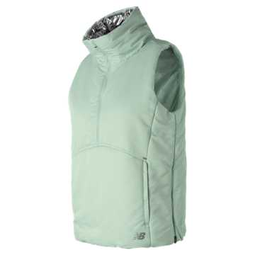 New Balance NB Radiant Heat Half Zip Vest, Ocean Air