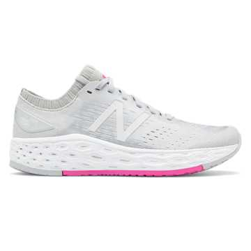 New Balance Fresh Foam Vongo v4, Light Aluminum with White & Peony