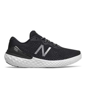 New Balance Fresh Foam 1365, Black with Purple & Silver Metallic