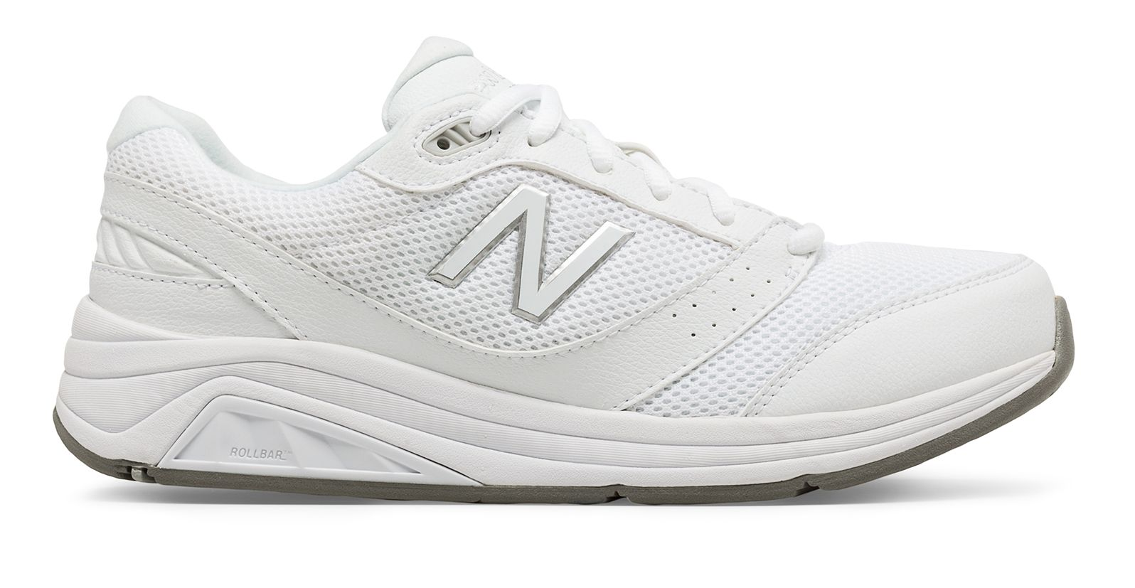 new balance all white shoes