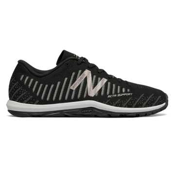 New Balance Minimus 20v7 Trainer, Black with Phantom & Champagne