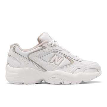 New Balance 452系列女款复古休闲鞋, 白色