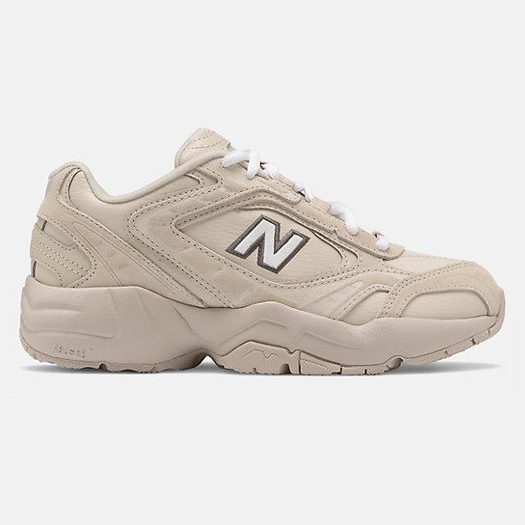 New Balance 张子枫同款452系列女款复古休闲老爹鞋, WX452SR