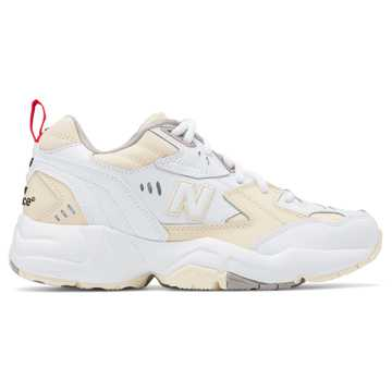 New Balance 608, Flat White with White