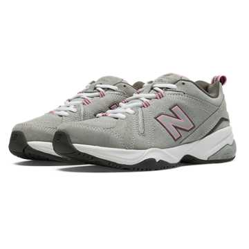 New Balance Womens New Balance 608v4, Grey with Pink