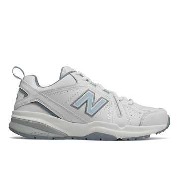 New Balance 608v5, White with Light Blue