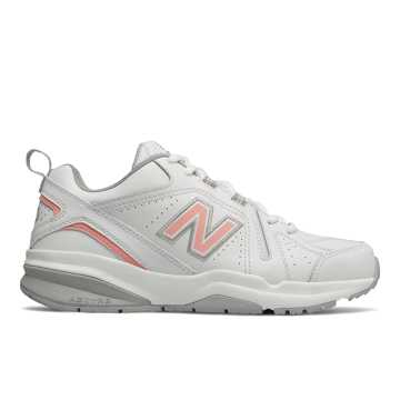 New Balance 608v5, White with Pink