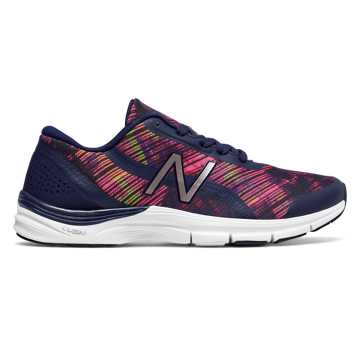 New Balance 711v3 Graphic Trainer, Pigment with Alpha Pink & Vivid Tangerine