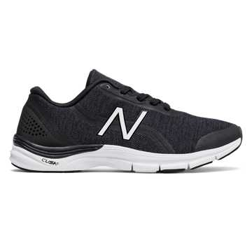 New Balance 711v3 Heathered Trainer, Black with White