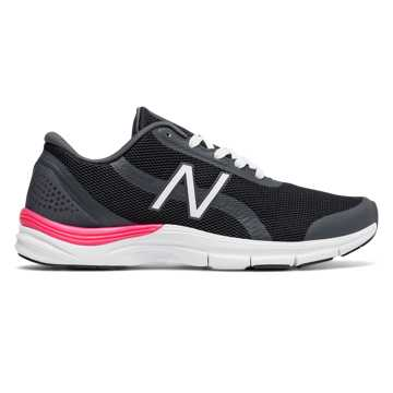 New Balance Pink Ribbon 711v3 Mesh Trainer, Black with Alpha Pink