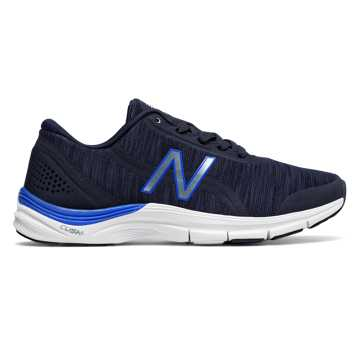 New Balance 711v3 Heathered Trainer, Pigment with Vivid Cobalt Blue