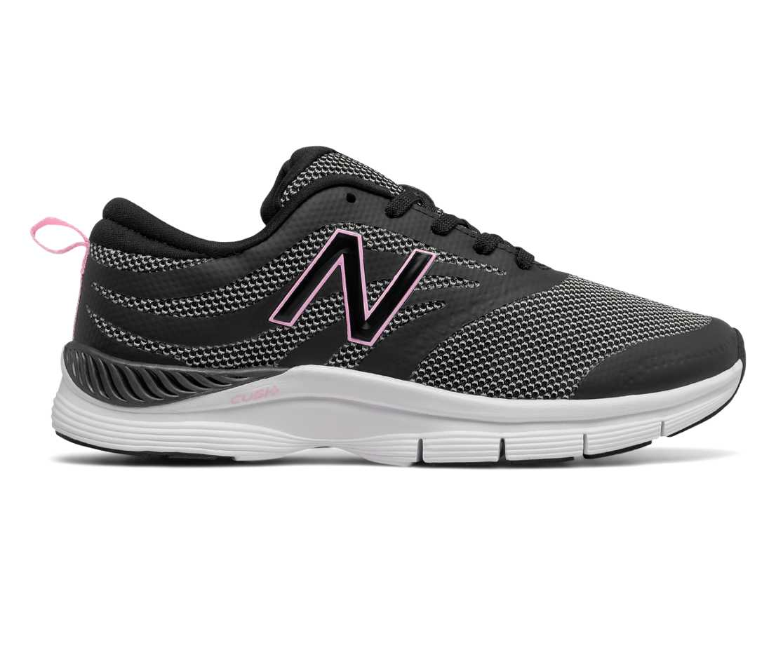 NB New Balance 713 Trainer       Black with Bleached Pink  White