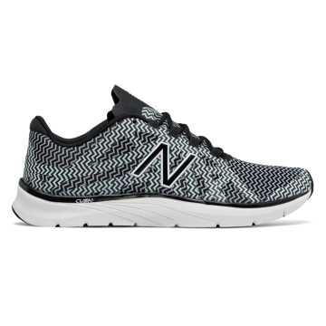 New Balance 811v2 Graphic Trainer, Black with White