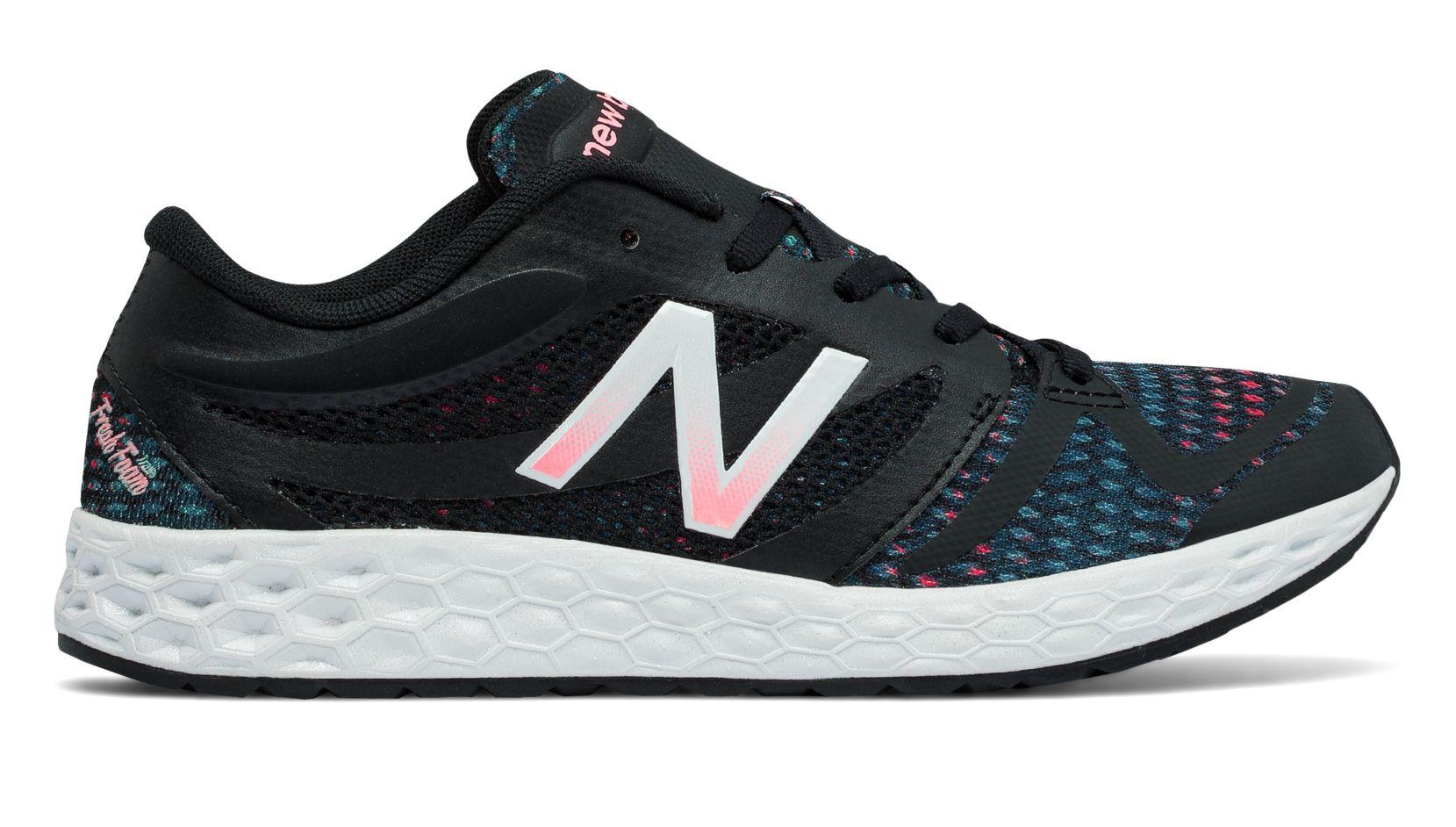 NB Fresh Foam 822v3 Graphic Trainer, Black with Typhoon & Alpha Pink