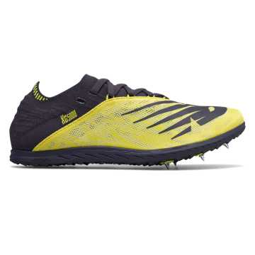 New Balance XC5K v5, Sulphur Yellow with Iodine Violet