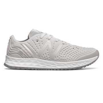 New Balance Fresh Foam Crush, White with Silver Mink