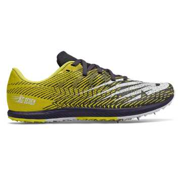 New Balance XC Seven, Sulphur Yellow with Iodine Violet