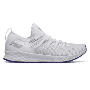 New Balance Fresh Foam Zante Trainer, White with UV Blue & Rain Cloud