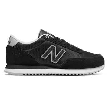 New Balance 501 Heritage, Black with White