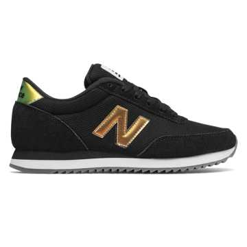 New Balance 501 Ripple Sole, Black with Magnet