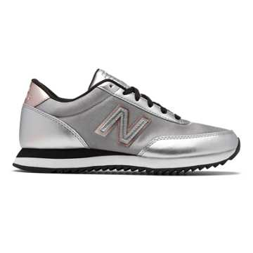 New Balance 501 Ripple Sole, Silver with Black