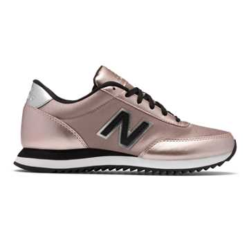 New Balance 501 Ripple Sole, Champagne Metallic with Black