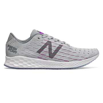 New Balance Fresh Foam Zante Pursuit, Light Aluminum with Steel & Voltage Violet
