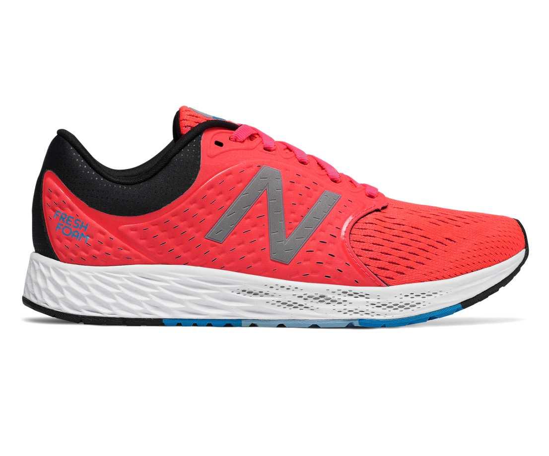 NB Fresh Foam Zante v4, Vivid Coral with Black & Maldives Blue